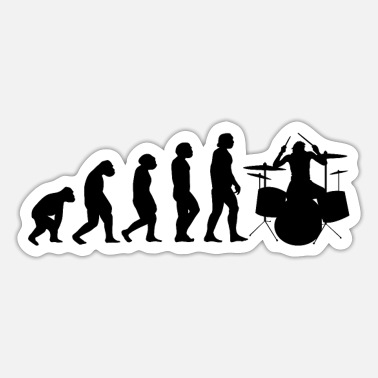 Jazz Drums-drummer Evolution II - Sticker