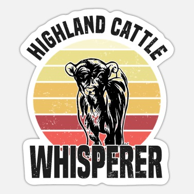 Hochlandrind Highland Cattle Whisperer Kühe Kuh Farmer Bauer - Sticker