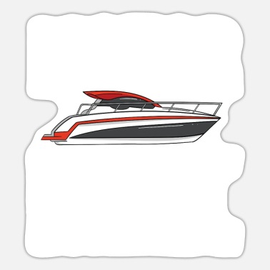 Motor Boat Motor boat motor boating speed boat racing boat - Sticker