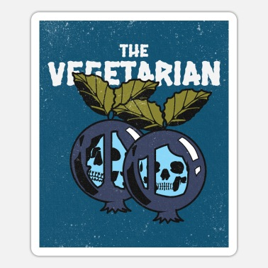 Scary Monster Vegetarian Horror Grunge Blueberry Vintage - Sticker