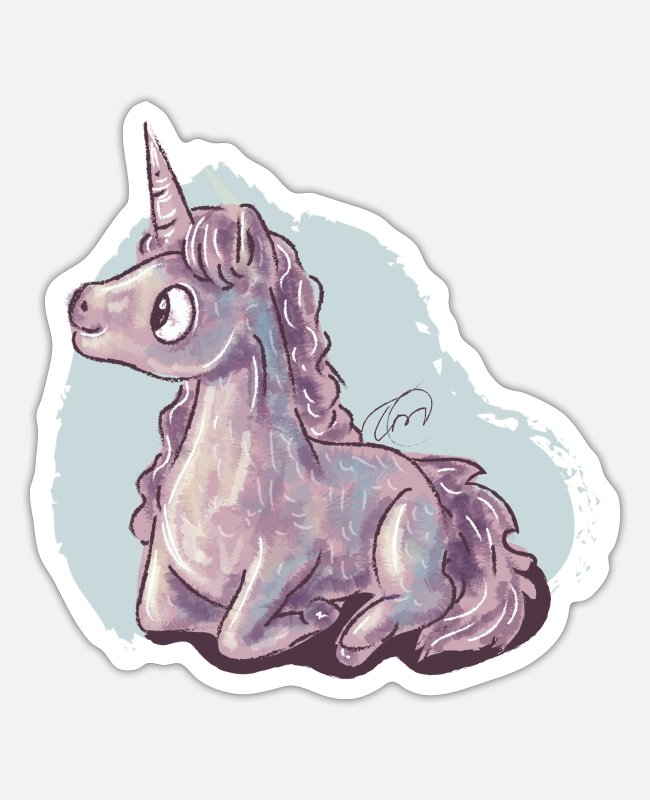 Mummy Sticker - Baby Unicorn - Sticker Mattweiß