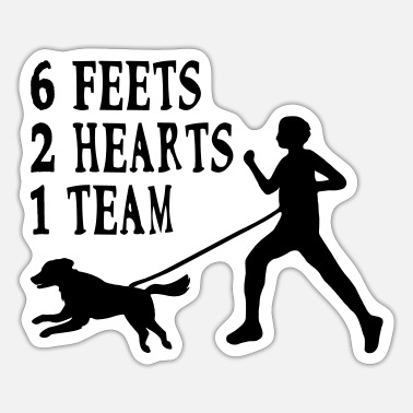 Canicross Hovawart jogging dog dog saying sport - Sticker