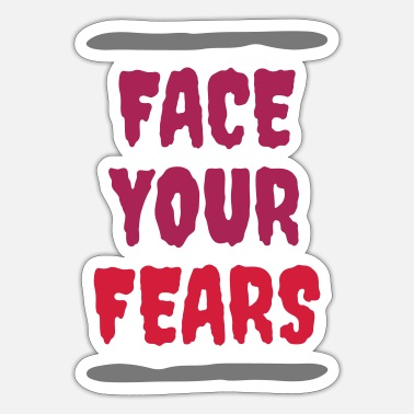 Test Of Courage ★ Design colors changeable ★ Face your fears (lines) - Sticker