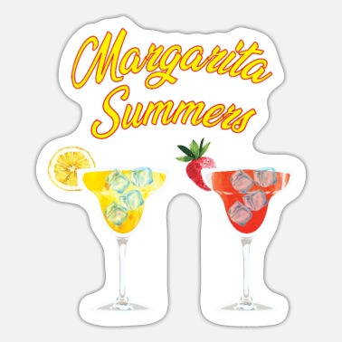 Orange Liqueur Margarita Summers cocktail design for tequila fans - Sticker