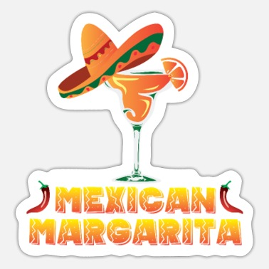 Orange Liqueur Mexican margarita cocktail design for - Sticker
