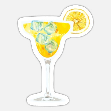 Orange Liqueur Frozen margarita cocktail design for - Sticker