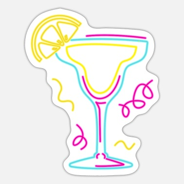 Orange Liqueur Margarita Party Cocktail Design for Tequila Fans - Sticker