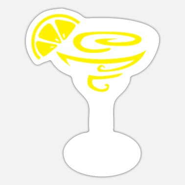 Orange Liqueur Margarita Lemon Cocktail Design for Tequila Fans - Sticker