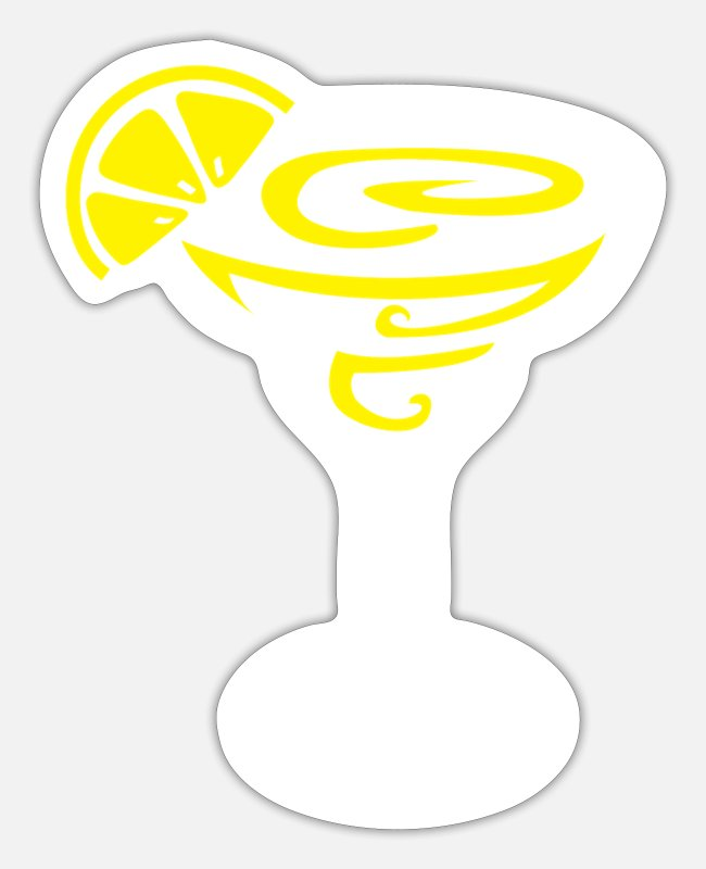 Salt Stickers - Margarita Lemon Cocktail Design for Tequila Fans - Sticker white mat