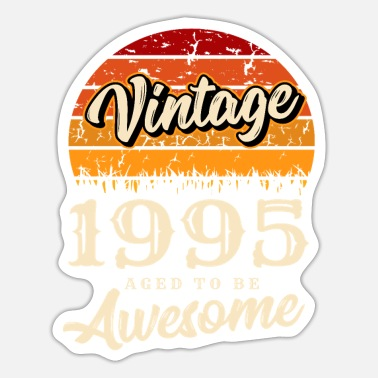 Birth Vintage 1995 birthday retro vintage gift - Sticker