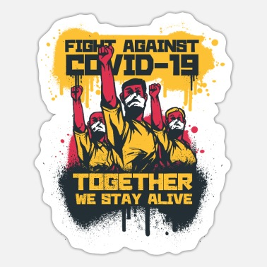 Together Against Corona Stay together against covid 19 Corona Lockdown - Sticker