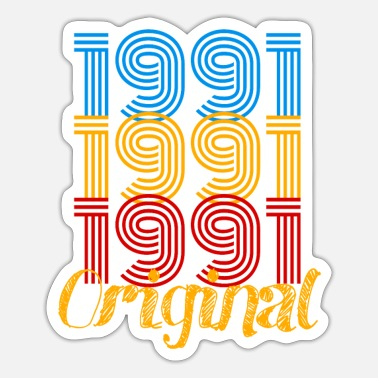 1991 birthday / present / birthday - Sticker