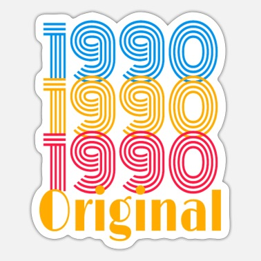 1990 original birthday / gift - Sticker