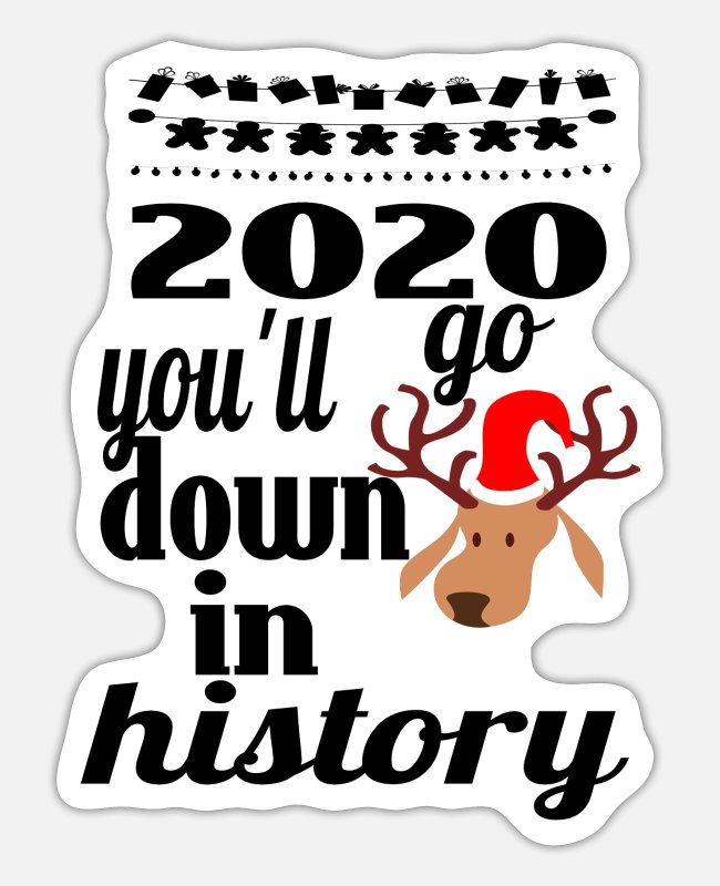 Winter Stickers - 2020 YOU'LL GO DOWN IN HISTORY. - Sticker white mat