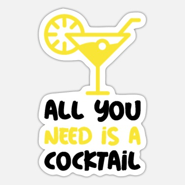 Funny cocktail motif / gift - Sticker