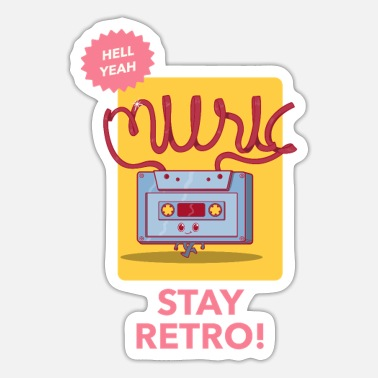 Stay retro / music - Sticker