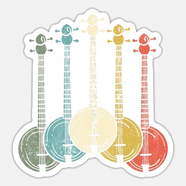 Banjo Banjo Banjo Player - Sticker