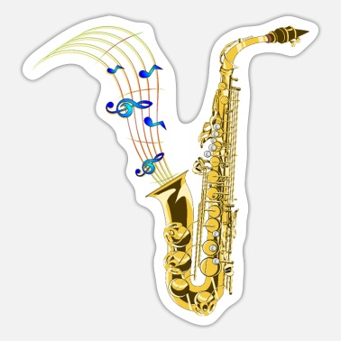 Music saxophone - Sticker