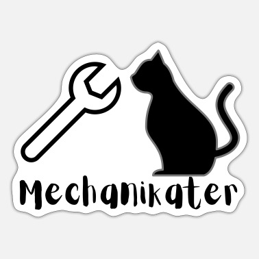 Mechaniker Mechaniker Katze - Sticker
