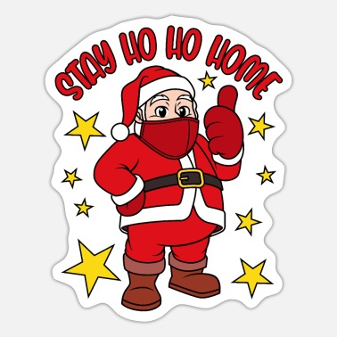 Christmas Bliv Ho Ho Home Christmas Outfit - Sticker
