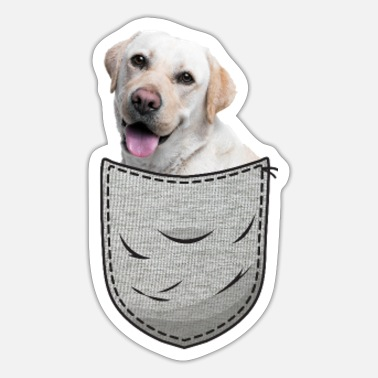 Bulldog Labbi Labrador Retriever Brystlommelomme - Sticker