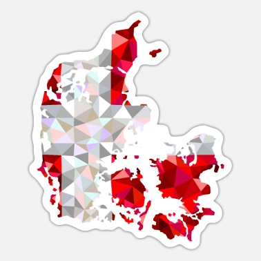 Denmark map in low poly style - Sticker