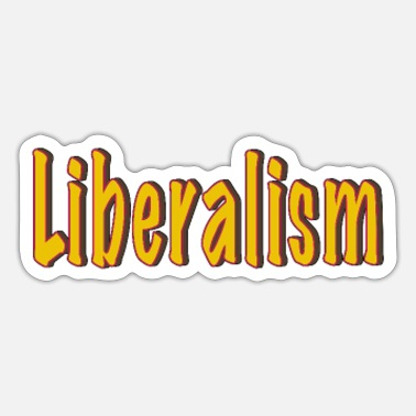 Ego Liberalism Politics Statement Setting Yellow - Sticker