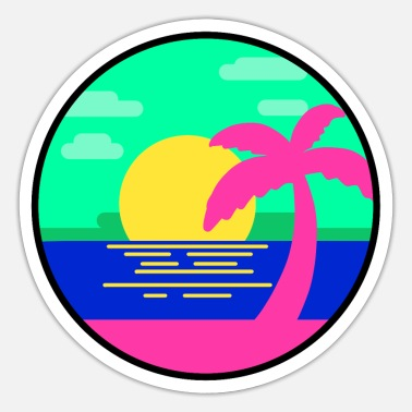 Holiday Island Beach party island vacation holidays island sea sun - Sticker