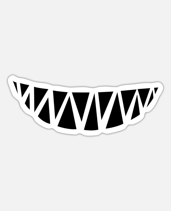 Grin Stickers - Monster teeth - Sticker white matte
