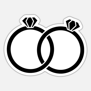 Wedding Ring Wedding rings - Alliance - wedding rings - Sticker
