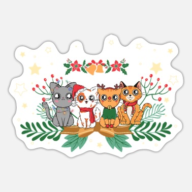Advent Advent katten - Sticker