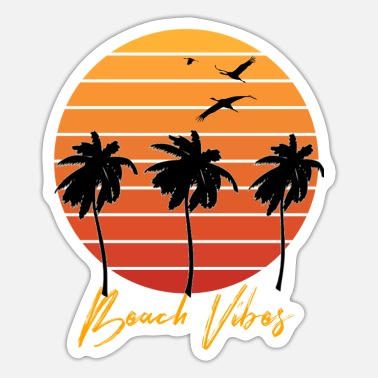 Beach Beach Beach - Sticker