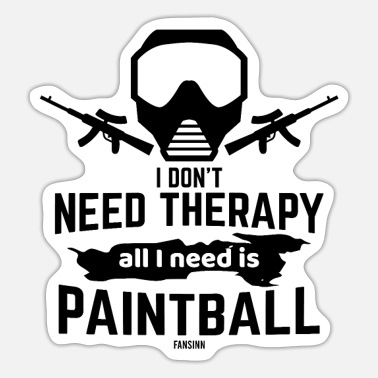 I Don´t Need Therapy Color Paintball - Sticker