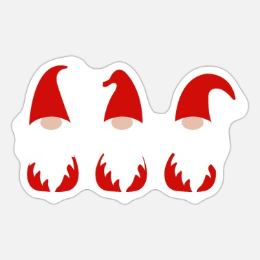 Funny Santa Clauses - Sticker