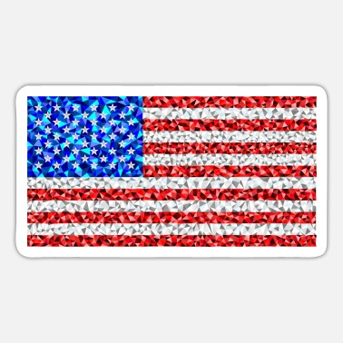 American flag in low poly style - Sticker