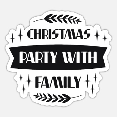 Family Party Christmas party with family - Sticker