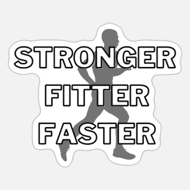 Running: Stronger, fitter, faster - Sticker