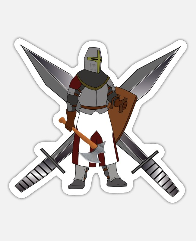 Viking Stickers - Knight - Sticker white matte