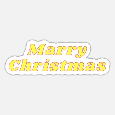 Christmas Marry Christmas - Comic Christmas / Christmas - Sticker