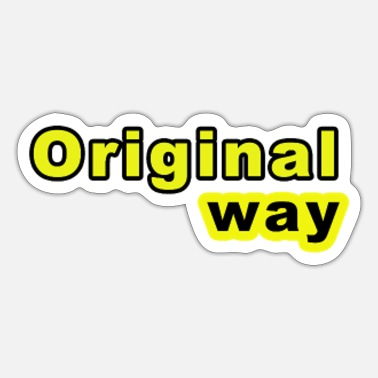 Originell Originelle Weise - Sticker