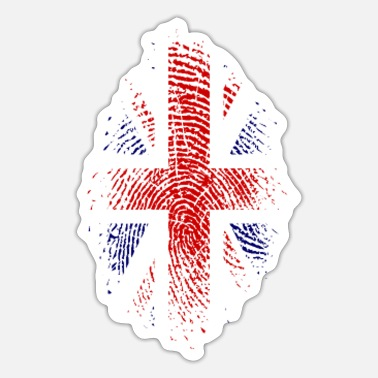 Union Jack Fingerabdruck Großbritannien Flagge Fingerabdruck Nationalfarben - Sticker