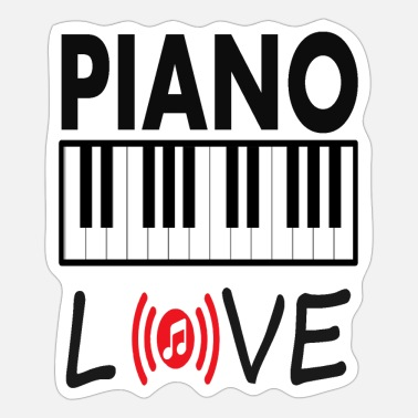 Love Playing Music love piano play music musician musical instrument - Sticker