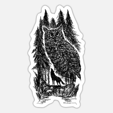 Black Forest Leible owl - Sticker
