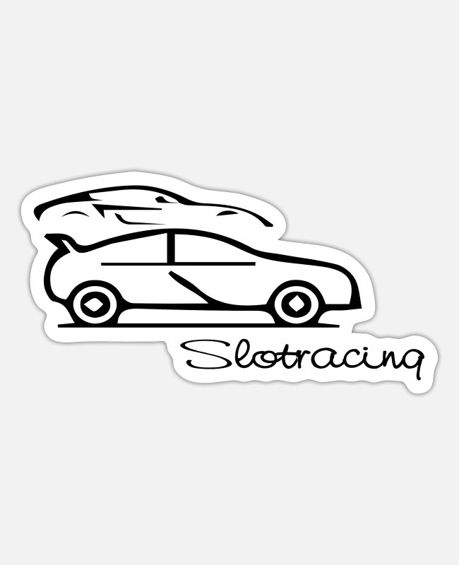 Speed Stickers - Car car - Sticker white matte