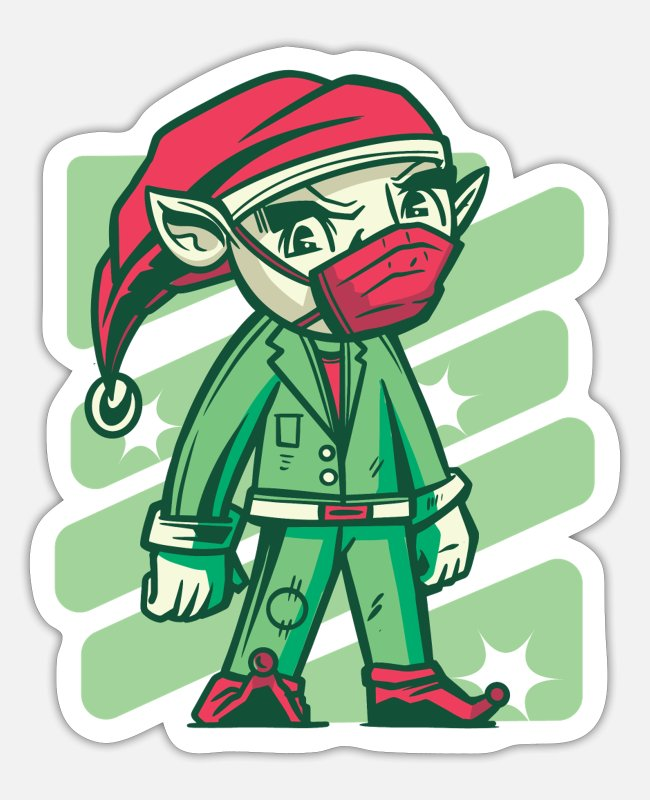 Office Stickers - Christmas Elf Home Office Funny office humor - Sticker white matte