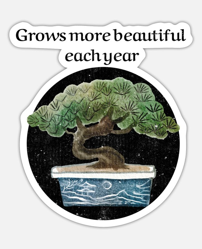 Garden Stickers - Grow More Beautiful Garden Plants T Shirt Design - Sticker white matte