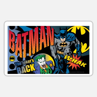 Batman and Joker Comic Book - Sticker