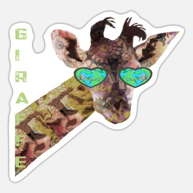 Psy Giraffe mit Brille youth modern cool stylish Party - Sticker