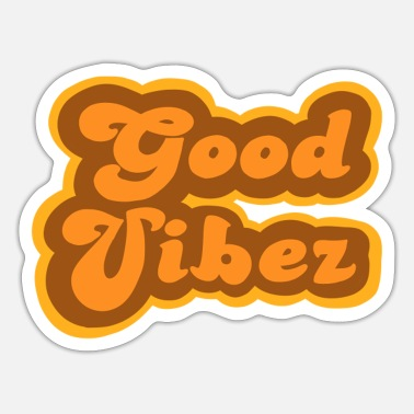 Fonds Good Vibez in fonds uit de jaren 70 - Sticker