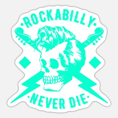Rockabilly Rockabilly Rock n Roll Musik - Sticker